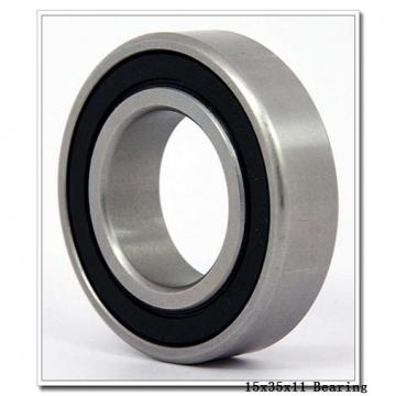 15 mm x 35 mm x 11 mm  KOYO 7202 angular contact ball bearings