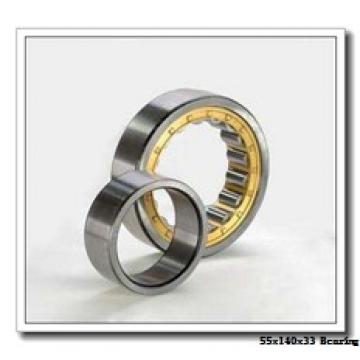 55 mm x 140 mm x 33 mm  ISO NF411 cylindrical roller bearings