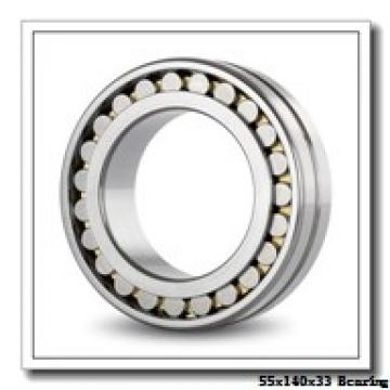 55 mm x 140 mm x 33 mm  KOYO NU411 cylindrical roller bearings