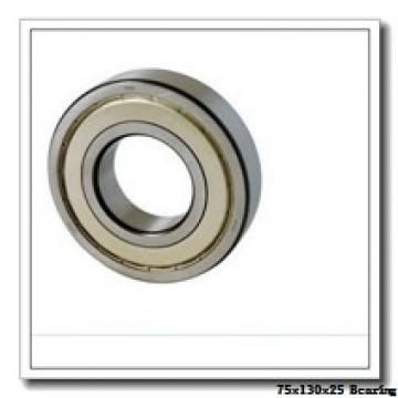 75 mm x 130 mm x 25 mm  ISO 7215 A angular contact ball bearings
