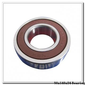 90 mm x 140 mm x 24 mm  KOYO 3NCHAD018CA angular contact ball bearings