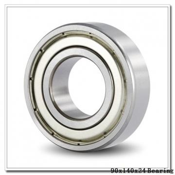 90 mm x 140 mm x 24 mm  NACHI 7018CDT angular contact ball bearings