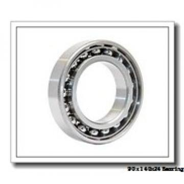 90 mm x 140 mm x 24 mm  ISO 7018 C angular contact ball bearings