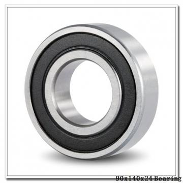90 mm x 140 mm x 24 mm  NTN 7018DF angular contact ball bearings