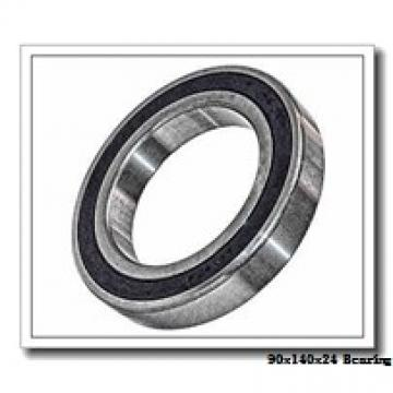 90 mm x 140 mm x 24 mm  ISO 7018 B angular contact ball bearings