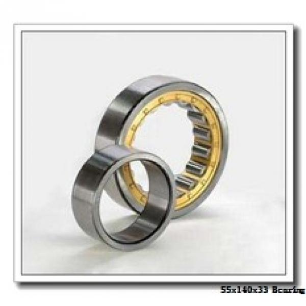 55 mm x 140 mm x 33 mm  NSK NJ 411 cylindrical roller bearings #1 image