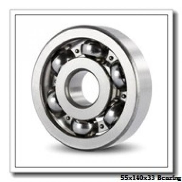 55 mm x 140 mm x 33 mm  Loyal N411 cylindrical roller bearings #1 image